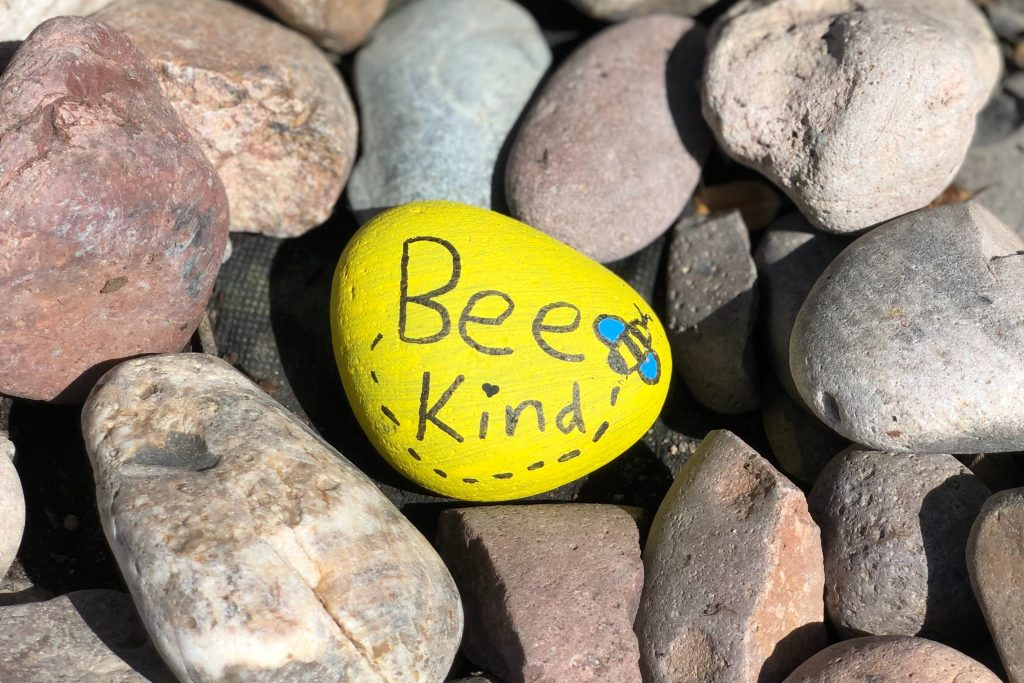 Bee happy rock