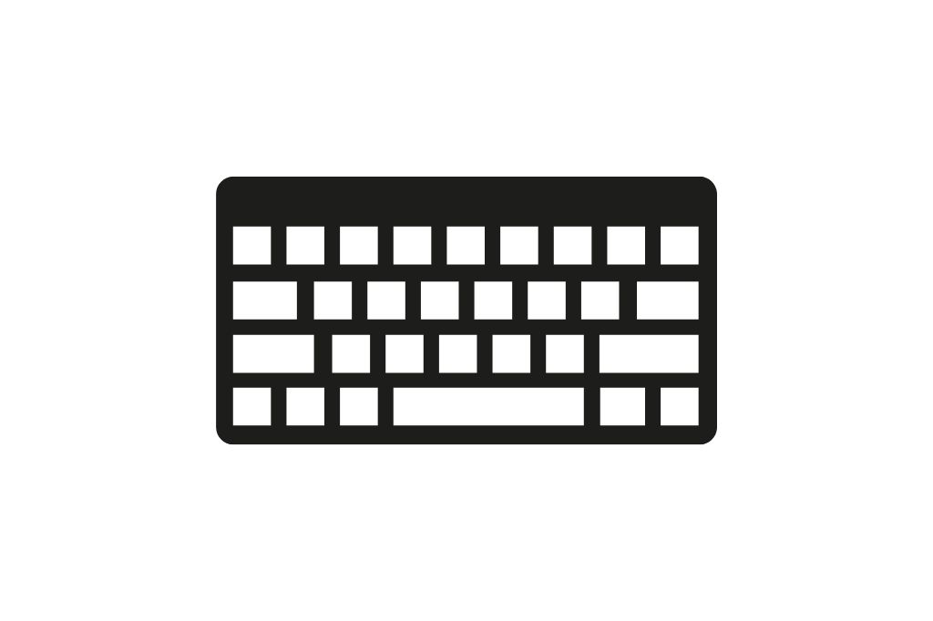 Keyboard icon on a white backgroundKeyboard icon on a white background