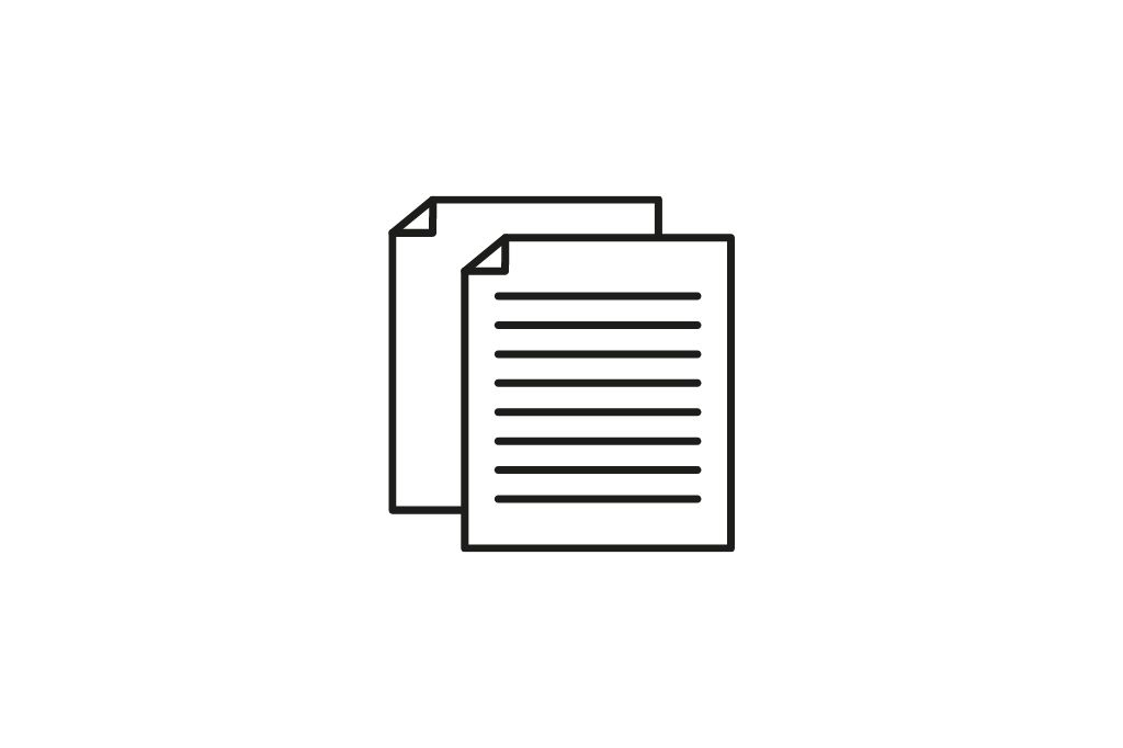 Documents icon on a white background